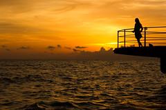 Titanic? (andi_59) Tags: sundown silhouette canon girl roma rom lidodiroma golden people titanic beach sea goldenlight goldenhour sunset sunlight