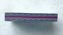 2012 Thing A Day  Day 24  Aqua & Purple Border Cane (auntgriz) Tags: purple aquablue polymerclaycane knightworkstudio bordercane