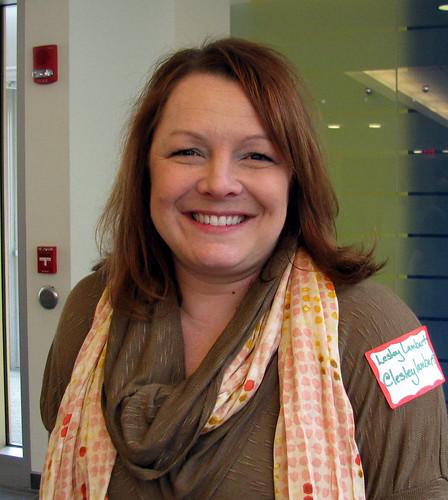 Lesley Lambert checks in PodCampers