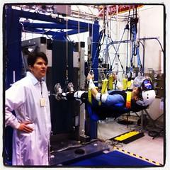 T2 #Colbert Treadmill at #ZeroG Facility @NASAglenn #nasatweetup
