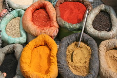 Spices of India (Monsoon Lover) Tags: india color flickr village spices organic kalimpong villagemarket sudipguharay colorofindia colorofspices kalimponghaat