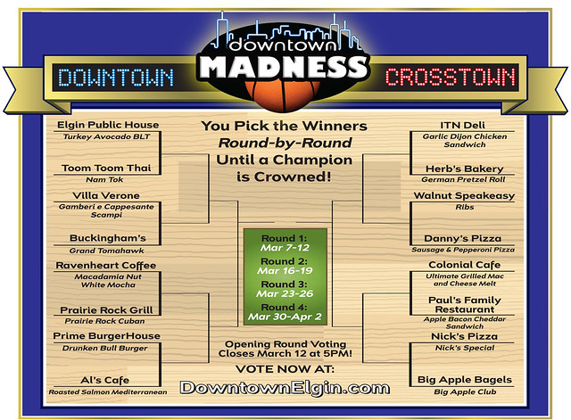 Downtown Madness 2012 Bracket
