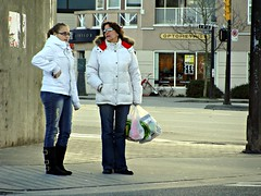 White Anoraks (knightbefore_99) Tags: street ladies white station fashion vancouver cool candid grandview skytrain commercialdrive blanc eastvan parkas thedrive anoraks