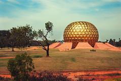 golden glob matrimandir (Zhenya bakanovaAlex Grabchilev) Tags: city india architecture ball buildings temple golden view metallic sphere meditation spiritual pondicherry auroville matrimandir