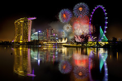Does this image really deserve No.1 or worth second look? (Kenny Teo (zoompict)) Tags: canon landscape scenery singapore award kenny winning marinabay bestfireworks marinabaysands eos5d2 singaporeflyers fireworksdispaly zoompict artsciencemuseume