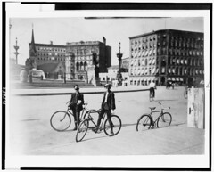 Messenger boys, 1908 (Monument Circle Project) Tags: boys indianapolis indiana bicycles libraryofcongress 1900s messengers monumentcircle lewishine indianapoliswesternunion