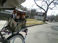 beer run (sporadicity) Tags: beer bells lansing lg fixed peugeot beerrun bikeby twoheartedale cosmostouch