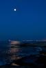 Luz de Luna (Jose Casielles) Tags: color azul luces mar cabo agua ciudad luna cielo reflejo olas rocas yecla fotografíasjcasielles