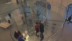 The new Apple Store in Amsterdam. (elsa11) Tags: apple amsterdam retail computer store video imac ipod nederland applestore staircase leidseplein noordholland ipad glassstaircase longestgeniusbar