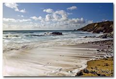Quick tide (Simon Bone Photography) Tags: longexposure sea sky cloud sun beach cornwall smooth lizard helston churchcove gunwalloe cornishcoast canon1740mmlf4 wwwthehidawaycouk cokinpfilters canoneos7d hoyandx400 9stopfilter