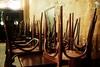 Closing Time (André Hofmeister) Tags: bar restaurant chairs tables stühle closingtime tische eisenstein semisonic putup tellitwithasong hochgestellt feelingstrangelyfine panasoniclumixg20mmf17asph