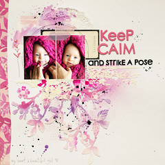keep calm & strike a pose (ania-maria) Tags: pink white girl rose scrapbooking girly prima annamaria scrap designteam primamarketing aniamaria