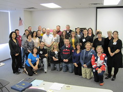 MoH Recipient Bruce Crandall participates in Teacher Training in Mesa, AZ