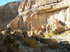Dramatic rock formations on Calcite Mine Hike - Anza Borrego Desert State Park (CA) - Feb. 2012 (Bob_ Perry) Tags: anzaborrego slotcanyon calcite borregosprings anzaborregodesertstatepark s22 calcitemine deserthike sandiegohike calciteminehike