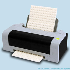 LEGO Printer (bruceywan) Tags: sculpture black yellow paper print lego printer bruce cyan magenta replica photostream lowell moc cmyk ib1 ironbuilder brucelowellcom ironbuilderblcom ibblcom