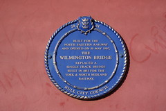 Photo of Wilmington Bridge blue plaque