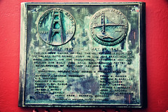 25th Anniversary (Leighton Wallis) Tags: sanfrancisco california birthday ca usa history plaque unitedstatesofamerica goldengatebridge trivia facts 75thanniversary ggnpc11