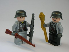 WW2 German Soldiers (Cool Whip) Tags: world 2 wild horse west soldier gold golden cool cowboy war lego wwii rifle helmet terrorist clear german whip ww2 figures axis uzi allies minifigures leveraction mg34 brickarms