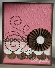 Baby girl card (Jennifer_h) Tags: baby girl silhouette swirls embossed congrats foldedflower