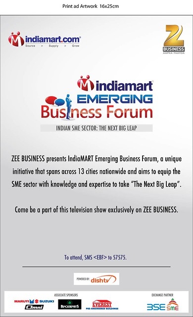 Print Ad in Business Standards- IndiaMART EBF