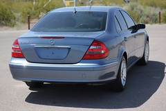 You drive the Mercedes, not the title! Generally, salvage title vehicles