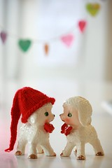 Love ............................. (The Dolly Mama) Tags: holiday cute love hat hearts friend couple sheep handmade adorable explore lambs valentines cutecouple valentinesday verity