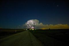 verite (davedehetre) Tags: road sky cloud weather night dark farm cell kansas thunderstorm lightning distance gravel severe Astrometrydotnet:status=failed Astrometrydotnet:id=alpha20120243777751