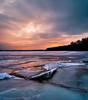 Icey Sunset (Oooah!) Tags: winter sunset lake snow ice water wisconsin landscape frozen nikon pano panoramic madison mendota icefishing supershot d5000 vetorama iflook