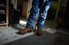 DSC_8916 (jakewolf21) Tags: work cowboy boots bondage rope sierra jeans hogtied ariat