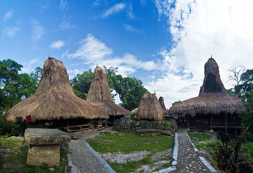 Traditional village in West Sumba