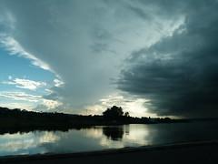 Um anoitecer forado (IgorCamacho) Tags: sunset summer brazil lake storm reflection weather braslia brasil lago df day capital panasonic prdosol vero reflexo tempo anoitecer clima parano fz100 regionwide