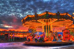 Funfair (marcovdz) Tags: sunset marseille roundabout merrygoround funfair mange hdr coucherdesoleil caroussel fteforaine 3xp