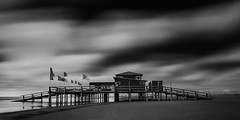Sankt Peter-Ording I (MichelleWhy - Stefanie Loges) Tags: longexposure sky art clouds blackwhite long fine himmel wolken stpeterording pfahlbauten expsoure surfschule kiteschool michellewhy stefanieloges schleswigerwerksttten medienwerkstattschuby