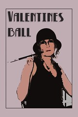 FLAPPER! (mark_rutley) Tags: art ball poster costume popart flapper fancydress 1920 valentinesball