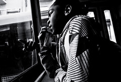 Interested by Street Life (Gerald Verdon) Tags: street leica urban copyright portugal window girl children europe hand lisbon transport rangefinder m8 tramway fav10 geraldverdon