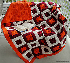 Showin' some Hokie pride! (riqwammy) Tags: orange virginia quilt tech maroon blanket vt