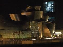 Guggenheim at night (karavann) Tags: art night spider bilbao guggenheim