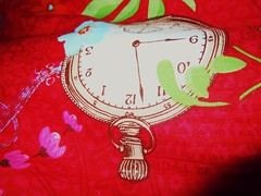 You, yourself, are the time; your senses are your clocks ... (RenateEurope) Tags: print nikon linen coolpix textiles cloth multicolor leinen s8000