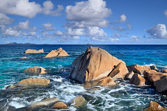 Ave Maria (rgarrigus) Tags: ocean morning seascape landscape islands coast rocks surf waves indianocean coastal seychelles northpoint avemaria ladigue greatphotographers garrigus baiedesteanne robertgarrigus robertgarrigusphotography