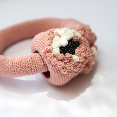 sakura blossom bangle (ulaniulani) Tags: pink blossom crochet sakura blooming palepink bangleetsy sakurablossombangle