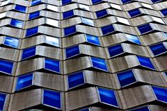 Clapots (fidgi) Tags: blue cloud white paris reflection architecture canon concrete grey gris pattern bleu reflet nuage blanc façade béton canoneos7d