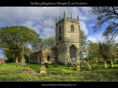 St Mary Magdalene, Whitgift, Yorkshire (Paul Simpson Photography) Tags: trees windows tower clock church grass cross headstones graves hdr whitgift eastyorkshire humberside stmarymagdalene photosof imageof photoof imagesof april2012 paulsimpsonphotography