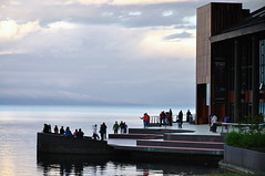 Teatro del Lago - Frutillar (Noelegroj (4 Million views plus - Thanks to all)) Tags: chile trip travel viaje patagonia lake clouds landscape town village paisaje shore nubes germanvillage cielos frutillar lagollanquihue regiondeloslagos teatrodellago laketheatre districtlake villorreo