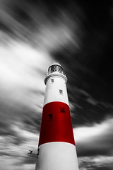 Sweeper (paulwynn-mackenzie.co.uk) Tags: longexposure england bw lighthouse seascape blur southwest water clouds photoshop seaside britain sony scenic a33 le nd processing pro alpha dslr filters grad amateur hitech slt lightroom portlandbill selectivecolorization digitalcameraclub cs5 gradnd 10stop blackandwhiteportland bigstopper slta33 hitechpro10stopper