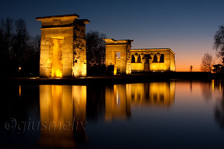 Madrid - Blue hour al Tempio di Debod
