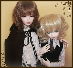 :: Edgar & Allan :: (Bunraku Doll) Tags: boy cute boys allan louis kid twilight couple doll ns edgar bjd dollfie luts delf lev msd yuz     souldoll normalskin porstnell