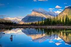 Get high on nature (JoLoLog) Tags: trees mountain lake canada mountains reflection lakes joe alberta rockymountains hdr mountrundle banffnationalpark canadianrockies vermilionlakes canonxsi bestcapturesaoi elitegalleryaoi dblringexcellence tplringexcellence eltringexcellence