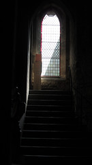 Stairway to heaven (shaggy359) Tags: light shadow window saint stairs paul scotland chair edinburgh stair arch chairs steps pauls stack stairway plastic step episcopal stacked straircase oldsaintpauls oldstpauls