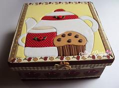Caixa para ch (Line Artesanatos) Tags: caixa portach caixaparach patchworkembutido