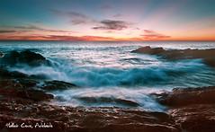 Hidden Coves (tim.cw) Tags: light sunset sea beach water nikon rocks waves wideangle tokina adelaide rays crashing halletcove d90